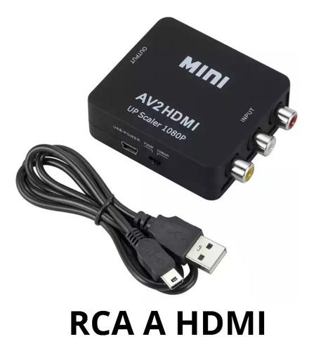 Convertidor Adaptador De Hdmi A Rca, Hdmi A Av Audio Video