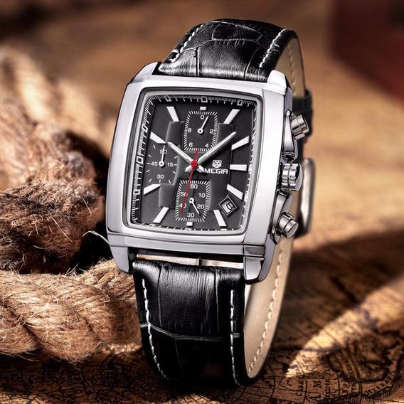 Relógio Megir Original Estilo Clássico Retrô Elegante Casual