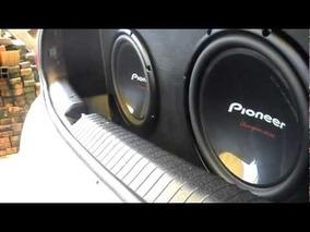 2 Pionner 400 Rms + Modulo Digital 1200 Rms Roadstar + Caixa