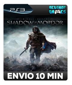 Middle-earth Shadow Of Mordor - Psn Ps3 - Pronta Entrega