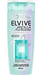 Elvive Arcilla Purificante Anticaspa Shampoo 400 Ml
