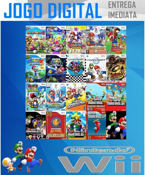 Wii - 19 Super Jogos - Mario Bros - Digital - Receba Agora !