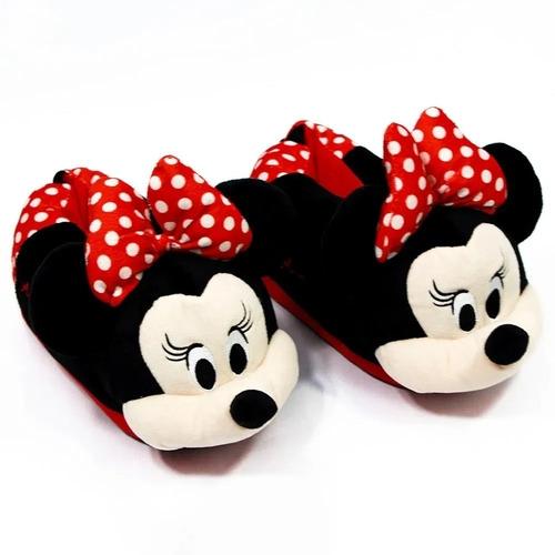 Pantufa 3d Disney Minnie Mouse P 33/34/35  Oficial Zc