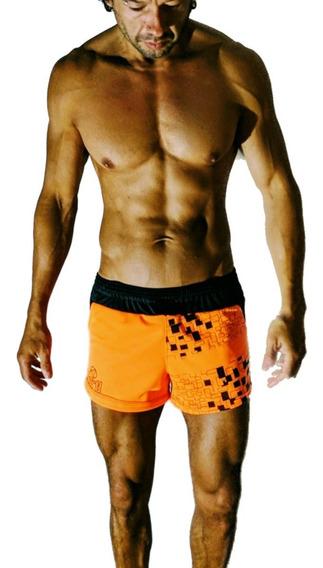 Id479 Mini Short Entallado Pantalon Corto Hartl Naranja