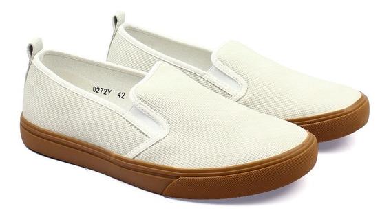 Zapatos Synergy Slip On Picado Off White 0272y