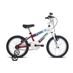 Bicicleta Infantil Aro 16 Ocean Branco E Vermelho Verden Bik