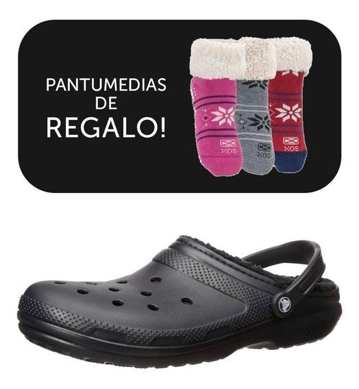 Crocs Originales Corderito Classic Lined+ Pantus De Regalo