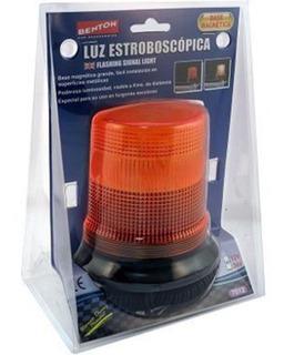 Baliza Estroboscopica Xenon Con Base Imantada 12v 5w Naranja