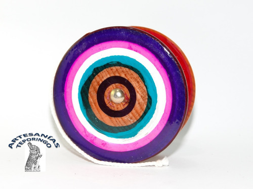 12 Piezas/artesanía Mexicana Yoyo Grande De Madera