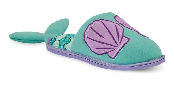 Pantuflas Sirena Aqua Niña 022-48