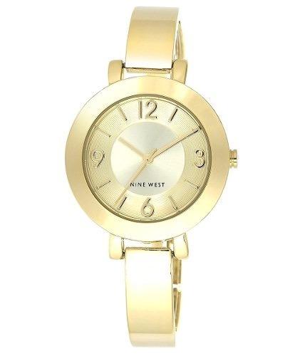 Reloj Nine West Nw1630chgb Champagne Dial Oro-tonoMujeres