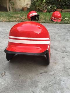 Casco De Bateo Para Beisbol Con Doble Oreja Rojo Estandar