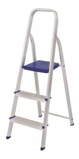 Escada Em Aluminio C/ 3 Degraus 005101 Mor