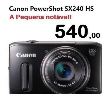 Canon Sx240hs Impecável! Zoom 20x Full Hd Com Estojo E Tripé