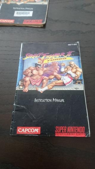 Manual Street Fighter Ii Turbo Original Pra Super Nintendo