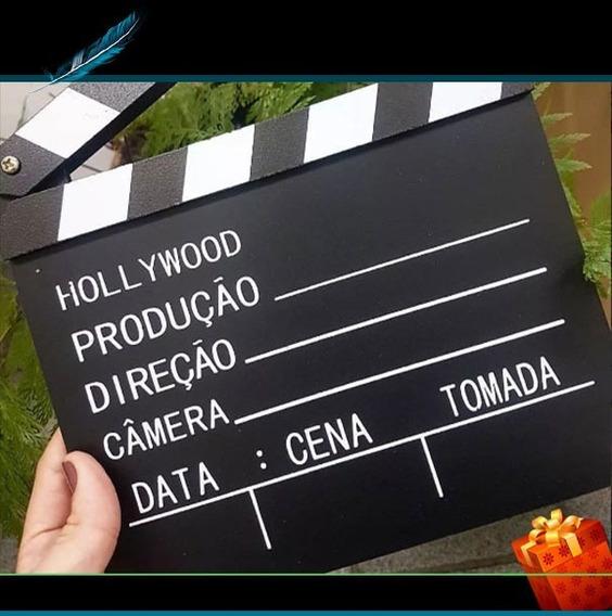 Claquete Para Estúdio De Cinema Tv Canal Youtube Decoração