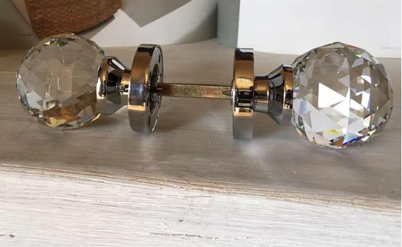 Perilla De Cristal Para Puerta De Habitación/ 60x85mm/set
