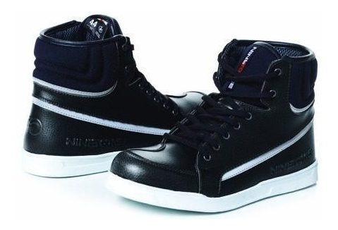 Botitas Moto Nine To One Sneaker Rome Negras Protecciones