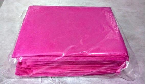 Kit Com 100 Avental Ginecológico Descartável Sem Manga Rosa