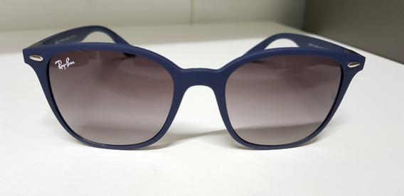Óculos Sol Ray-ban Rb4297 Azul Com Cinza Degradê Liteforce