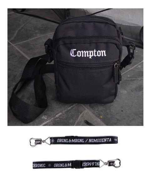 Kit Shoulder Bag Compton+chaveiro Cordão Abridor Chronic
