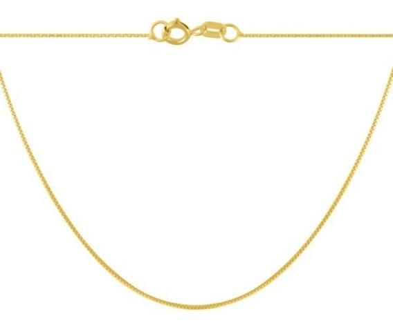 Corrente De Ouro 18k Gargantilha Feminina 45cm - Viagold C45