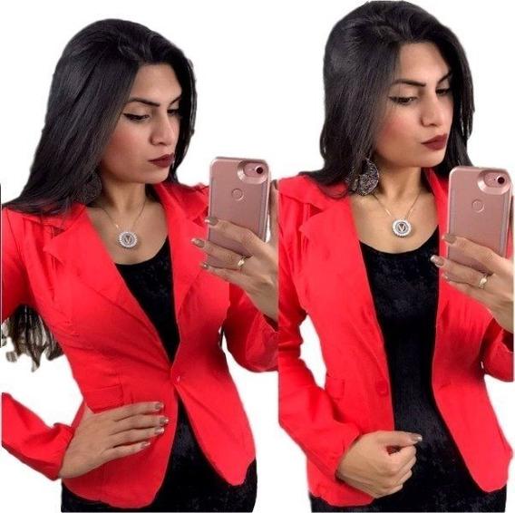 Kit 3 Blazer Fem Fashion Ótima Qualidade, Tecido Bengaline