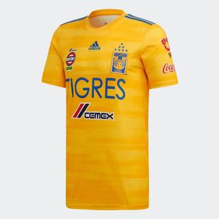 Jersey Playera Tigres 2019 2020 Hombre Parche Liga Mx