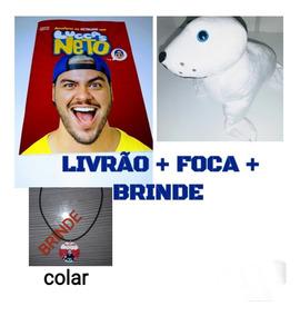 Livro Do Luccas Neto + Foca + Colar De Brinde