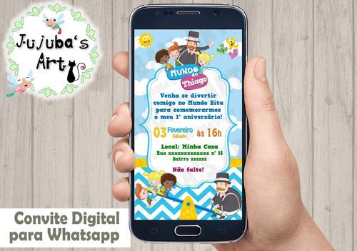Imagem 1 de 2 de Convite Digital Mundo Bita Para Whatsapp