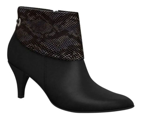 Bota Feminino Ankle Boot Bico Fino Piccadilly 745060 - Maico