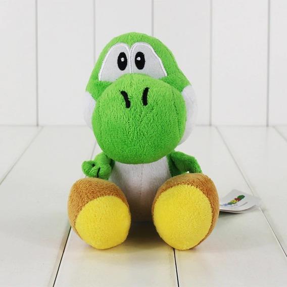 Dinossauro Yoshi De Pelucia 18 Cms Do Jogo Mario World