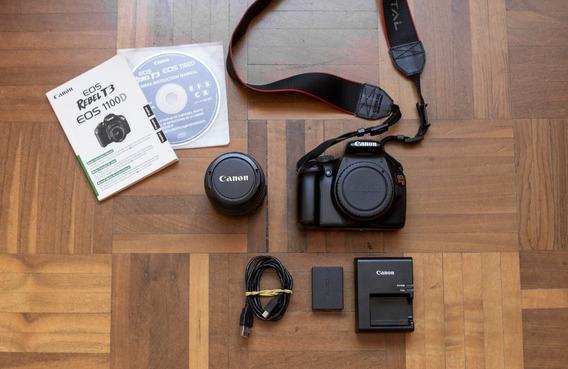 Câmera Digital Canon Eos Rebel T3 + Lente 18-55mm