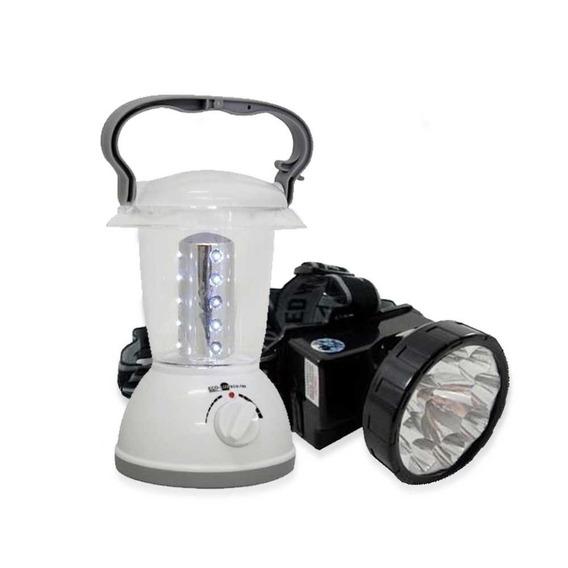 Lanterna Cabeça Recarregável Led Eco-16+ Lampião Led Eco-