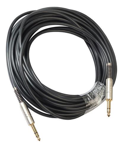 Cable Auxiliar Para Guitarra Eléctrica, Chapado En Oro, 15