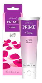 Gel Prime Excite Lubricante Placer Femenino Sensual 22gr
