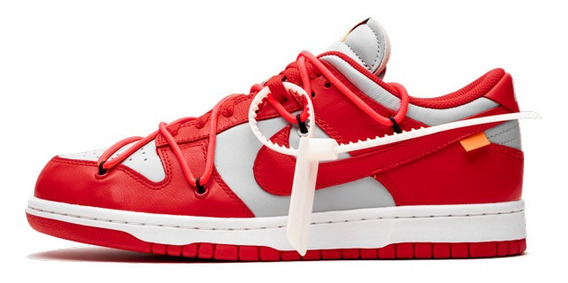 Nike Sb Dunk Low Off White 42 Br University Red Novo Com Nf