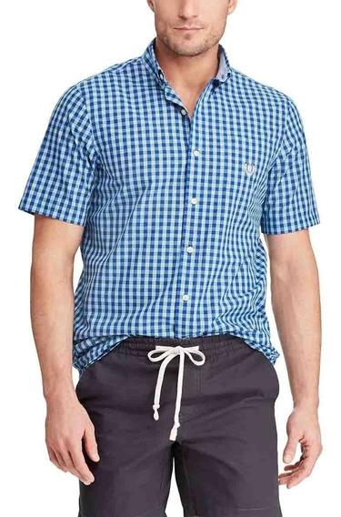 Chaps Camisa A Cuadros Manga Corta Caballero Xlt