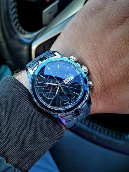 Relógio Edox Grand Ocean Automático Cronógrafo Maravilhoso