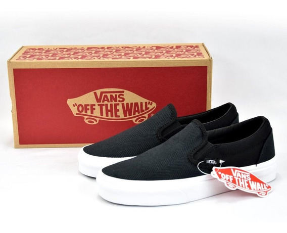 Vans Slip On Herringbone Plataforma Dama 100% Originales