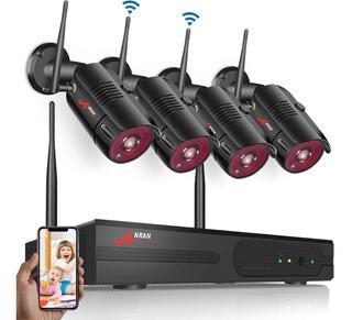 Kit 4 Camaras Seguridad Inalambricas Vigilancia Hd Wifi 2mpx
