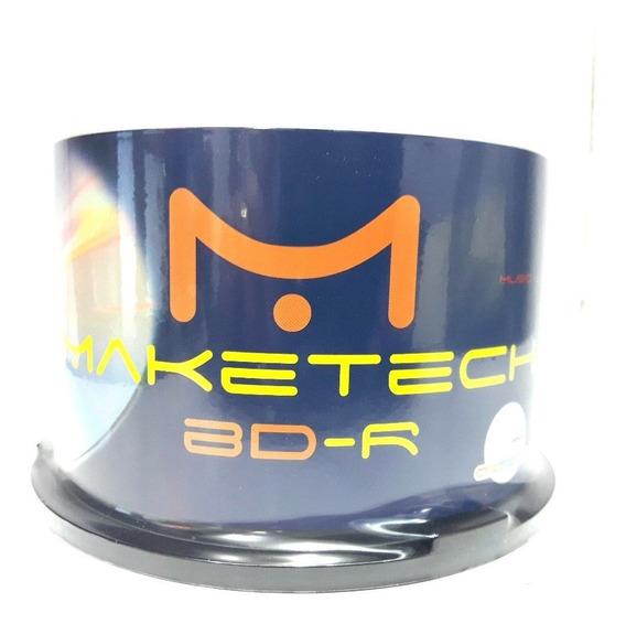 50 Midia Bluray Maketech Printable 25gb 135min