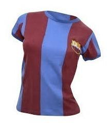 Camisa Barcelona 74 Feminina Retrô