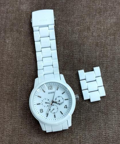Relógio De Pulso Guess Branco - Lindíssimo!