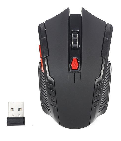 Kit Com 2 Mouses Para Jogos Gamer Sem Fio Wireless