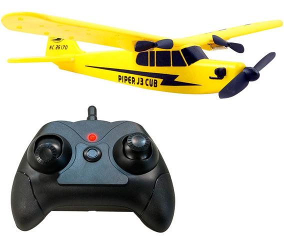Avion A Radio Control Remoto Rc Planeador Piper Club J3