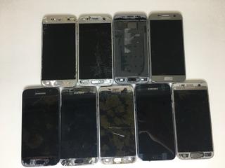 Lote 09 Celular Samsung Galaxy S7 - Para Retirada De Peças