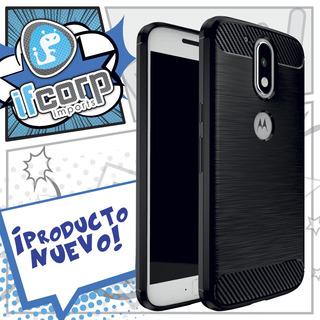 Funda Protector Case Moto E4 Uso Rudo Negro