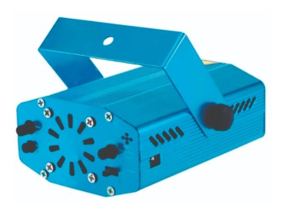 Mini Laser Led Projetor Raio Holografico Dj Festa Balada