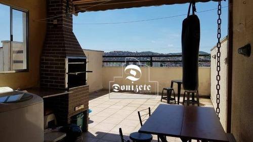 Cobertura Com 2 Dormitórios À Venda, 80 M² Por R$ 266.000,00 - Vila Junqueira - Santo André/sp - Co11149